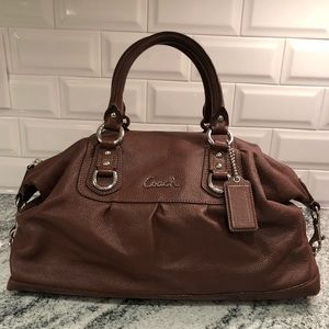 Coach Satchel, chocolate brown